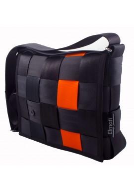 Fiesta black and orange - z bezpečnostních auto pásů