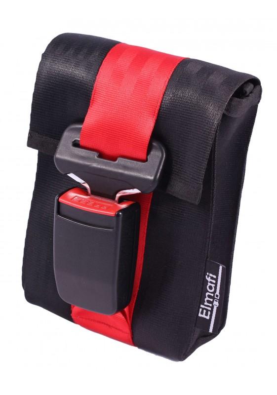 CitiGo black and cherry - z bezpečnostních auto pásů