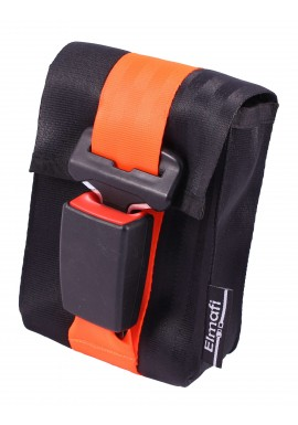 CitiGo black and orange - z bezpečnostních auto pásů