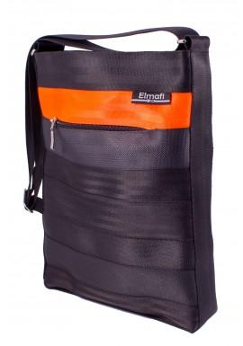 Octavia black and orange - z bezpečnostních auto pásů