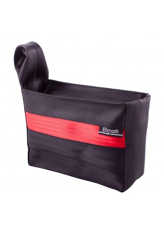 Smart XL black and cherry - z bezpečnostních auto pásů
