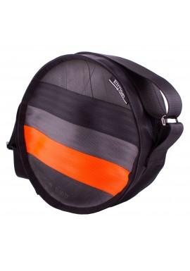 Polo black and orange - z bezpečnostních auto pásů
