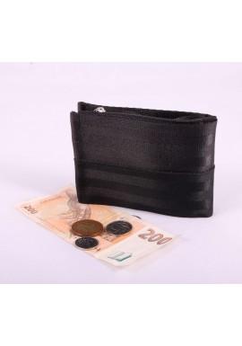 Pánská peněženka black z bezpečnostních pásů