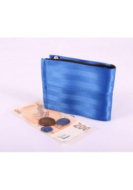 Pánská peněženka plum z bezpečnostních pásů