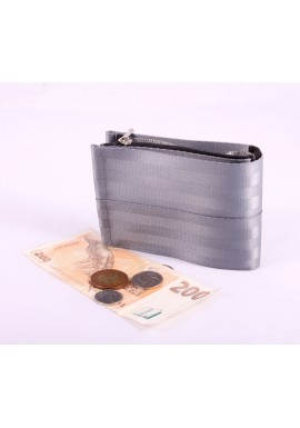 Pánská peněženka silver z bezpečnostních pásů